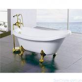 Ванна акриловая Atlantis C-3015 170x70 ноги золото