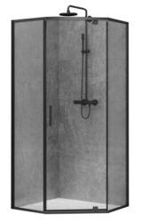 Душевая кабина 100х100 DEVIT ART 2.0 FEN0240B черный матовый, стекло прозрачное