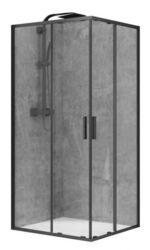 Душевая кабина DEVIT ART 2.0 100х100 FEN2240B цвет - черный матовый, стекло прозрачное