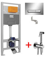 Инсталляции для унитаза Imprese 3 в 1 i8120 + Гигиенический душ Paffoni Tweet Round Mix хром ZDUP 110 CR