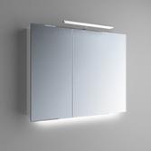 Зеркальный шкафчик Marsan Therese-2 650х800х150 с LED подсветкой, 017442