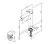 Смеситель для умывальника высокий с донным клапаном AM.PM Gem F9092200