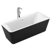 Ванна отдельно стоящая Volle 1800*800*620мм, акриловая черно/белая 12-22-110black