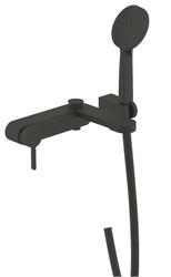 Смеситель для ванны Devit Laguna черный матовый 84125110B с душевым набором