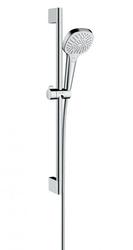Душевой гарнитур со штангой Hansgrohe Croma Select E Multi хром/белый 26580400