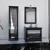 AMANDE Зеркало белое/черное, 017471