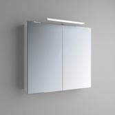 Зеркальный шкафчик Marsan Therese-3 650х1000х150 с LED подсветкой, 017451