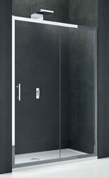 Дверь душевая Novellini Kali 2P 120 см (профиль серебро, прозрачное стекло) KALI2P114-1B