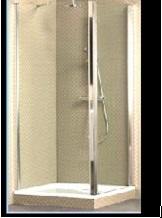 Frame to Frame распашная дверь Villeroy&Boch (угловая с боковой панелью) 90х90  см, лев/прав, проз/хром UDW9090SKA130  V-61