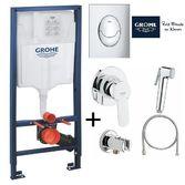 Инсталяция для унитаза Grohe Rapid SL 39503000 + Гигиенический душ Grohe Bau Edge 28512001