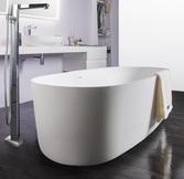 Ванна каменная VOLLE SOLID SURFACE отдельностоящая 1680x800 мм h530, с сифоном, белая 12-40-036